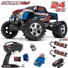 Traxxas 67054-1 1/10 Stampede 4X4 Truck 4WD Blue RTR w/ TQ + Extra iD Battery
