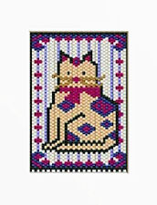 Patchwork Kitty Beaded Banner Pattern