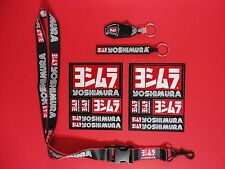 GENUINE YOSHIMURA STICKER DECAL LANYARD 2 KEYCHAIN BUNDLE