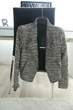 ZARA TWEED SILVER SPARKLE JACKET BLAZER BLOGERS BOUCLE BLOGGERS SMALL S NEW