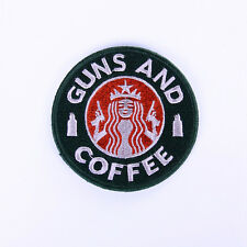 Tactical Guns and Coffee Velcro Morale Military patch Embroidered