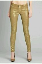 ���� $198 GUESS BY MARCIANO THE ZIP POCKET SKINNY NO. 67 - GOLD LEAF WASH ����