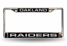 NFL OAKLAND RAIDERS LASER CUT CHROME METAL LICENSE PLATE FRAME FOOTBALL