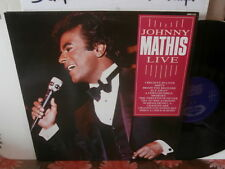 "johnny mathis""live""lp12""uk  hallmark:3214 de 1984"