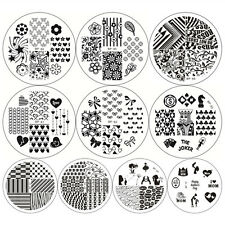 10x Nagel Schablone BORN PRETTY BP61-70 Nail Art Stamp Stamping Template Plates