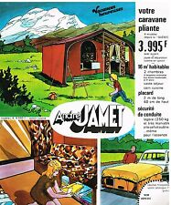 Publicité Advertising 1975 La caravane Pliante André Jamet