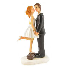 Young Sweet Kiss Bride & Groom Cake Topper Wedding Couple Elope Figure XYL1001