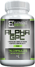 ALPHA GPC (325mg x 75ct) by Element Nutraceuticals - Boost Cognitive Function ,