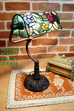 New Arrivals @Amazing Rose Style Tiffany Leadlight Stained Glass Banker Lamp