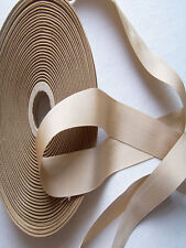 Vintage Gross Grain Ribbon Light Tan Color Rayon French