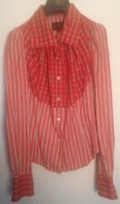 vivienne westwood anglomania Red Check And Stripped Shirt 42 10 12