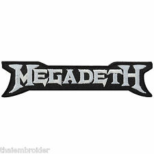 Megadeth Logo Sew Embroidered Iron-On Patches Jacket Shirt Cap Vest Cap Hat S017