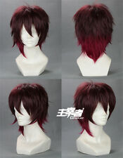 Amnesia Shin Anime Costume Short Cosplay Wig Mixed color + free wig cap +Track