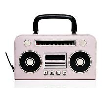 NWT Kate Spade Jazz Things Up Boom Box Adelina Wallet Clutch Pink Black NEW $248