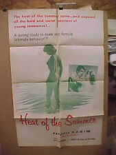 HEAT OF THE SUMMER, orig 1-sht / movie poster [Patricia Karim] - Adults Only