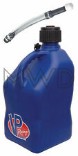VP Racing Blue 5 Gallon Square Fuel Jug/Deluxe Fill Hose/Water/Jerry Gas Can