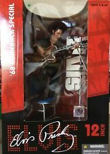 "Elvis Presley '68 Comeback Special 12"" Stage Action Figure Mic Stand Guitar"