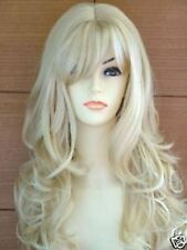New long Platinum-Blonde Fashion Wavy Wig Free Shipping