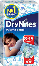 Huggies Dry Nites Pyjama Pants for Boys 8-15yrs (9) FREE UK DELIVERY
