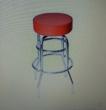 Lot of 4 Red Vinyl Bar Stool, Backless Royal Industries Inc ROY7712R