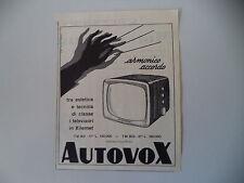 advertising Pubblicità 1957 TELEVISORE AUTOVOX TM 801/802