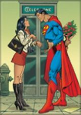 """2 1/2"""" X 3 1/2"""" SUPERMAN WITH LOIS LANE REFRIGERATOR MAGNET NEW"""