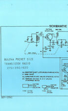 Nice *COPY* Bulova 270 290 620 AM Transistor Radio Schematic Diagram