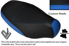 BLACK & LIGHT BLUE CUSTOM FITS PIAGGIO SKIPPER 125 150 180 94-97 DUAL SEAT COVER