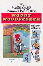 WOODY WOODPECKER original 1969 one sheet movie poster CHILLY WILLY/BUZZ BUZZARD