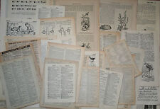 Job lot of paper ephemera: DICTIONARY PAGES, 35+ pieces, mostly vintage