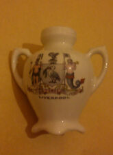 LIVERPOOL CRESTED WARE 1950s GREEK URN RARE SHAPE SOUVENIR WARE GREAT CONDITION