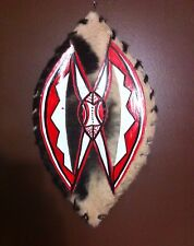 "Warrior Kenyan Masai War Shield African tribal maasai massai Goat Skin 22""-24"" l"