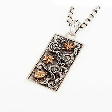 JAPANESE KAMON DOG TAG STERLING SILVER BIKER GOTHIC PENDANT gb-154
