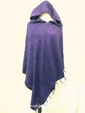 Wool Soft Hooded Poncho Cape Winter Wrap Hoodie Sweater Cover Handmade Nepal P0