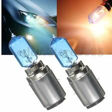 2x BA20D 35/35W White Halogen Lamp Xenon Headlight Bulbs Lamp Motorcycle DC 12V