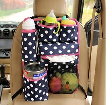Car Organizer, Blue Color white dot.