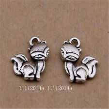 20pc Tibetan Silver Fox Animal Charms Pendant Beads Jewellery Making  PL1080