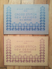 Cross Stitch, New Designs DMC Library c1940s? 3rd & 6th series patterns folk art