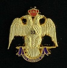 Masonic Scottish Rite 33rd Degree Eagle Lapel Pin (33EG-1)
