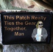 "Big Lebowski Movie ""Pee Rug"" The Dude Morale Patch Tactical ARMY Hook Military"