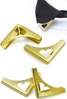 2 Pieces Blouse Shirt Metallic Metal Pointed Collar Clips Wing Tips nr 11