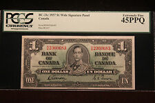 "1937 $1 Note PCGS 45PPQ Ex Fine ""Bank of Canada"" BC-21c ""Wide Signature Panel"""