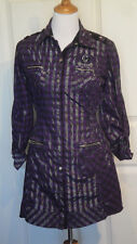 Coogi Dress Purple Black Silver Zippers  Coogi Glamour L