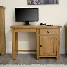 Original rustic solid oak furniture small computer laptop desk workstation
