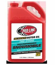 RED LINE 2-Cycle/Stroke Low Ash Snowmobile Oil - Gallon - Case - 41005