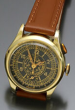 Rare Boys ½-Size Black Dial (Original) Single Button Chronograph Watch CA940s