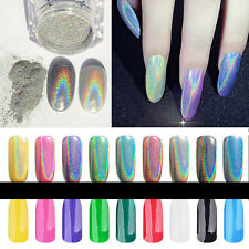 DIY Colorful Chrome Metallic Mirror Effect Glitter Magic Shiny Nail Art Powder