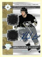06/07 Ultimate Debut Threads Kristopher Letang Dual Jersey Autograph RC #15/35
