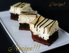 """☆Right from the Boardwalk of Disney!☆Brownie Cheesecake """"RECIPE""""!☆"""
