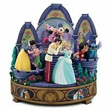 DISNEY STORE MEMORABLE KISSES SNOWGLOBE-NIB LGE.  CINDERELLA PRINCE  LILO STITCH